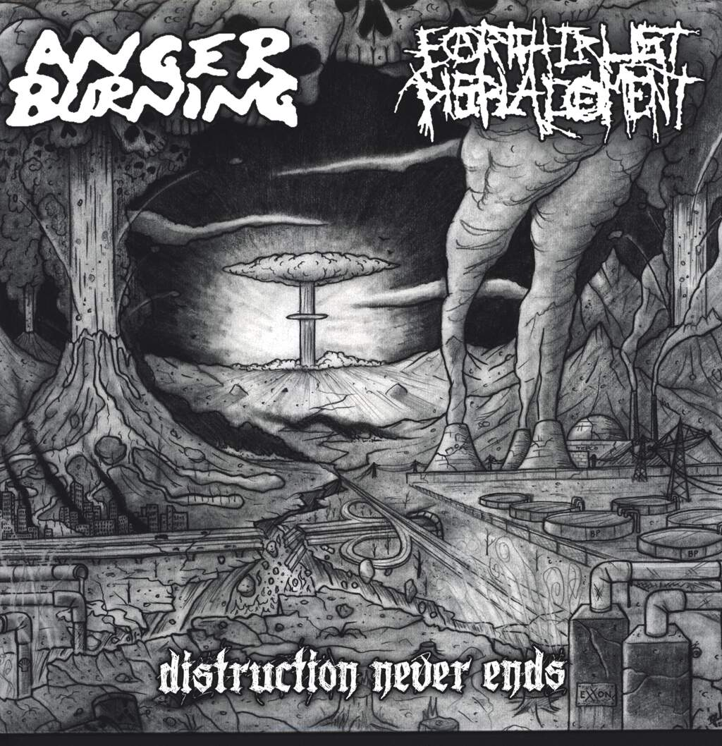 "Anger Burning: Distruction Never Ends, 12"" Maxi Single (Vinyl)"