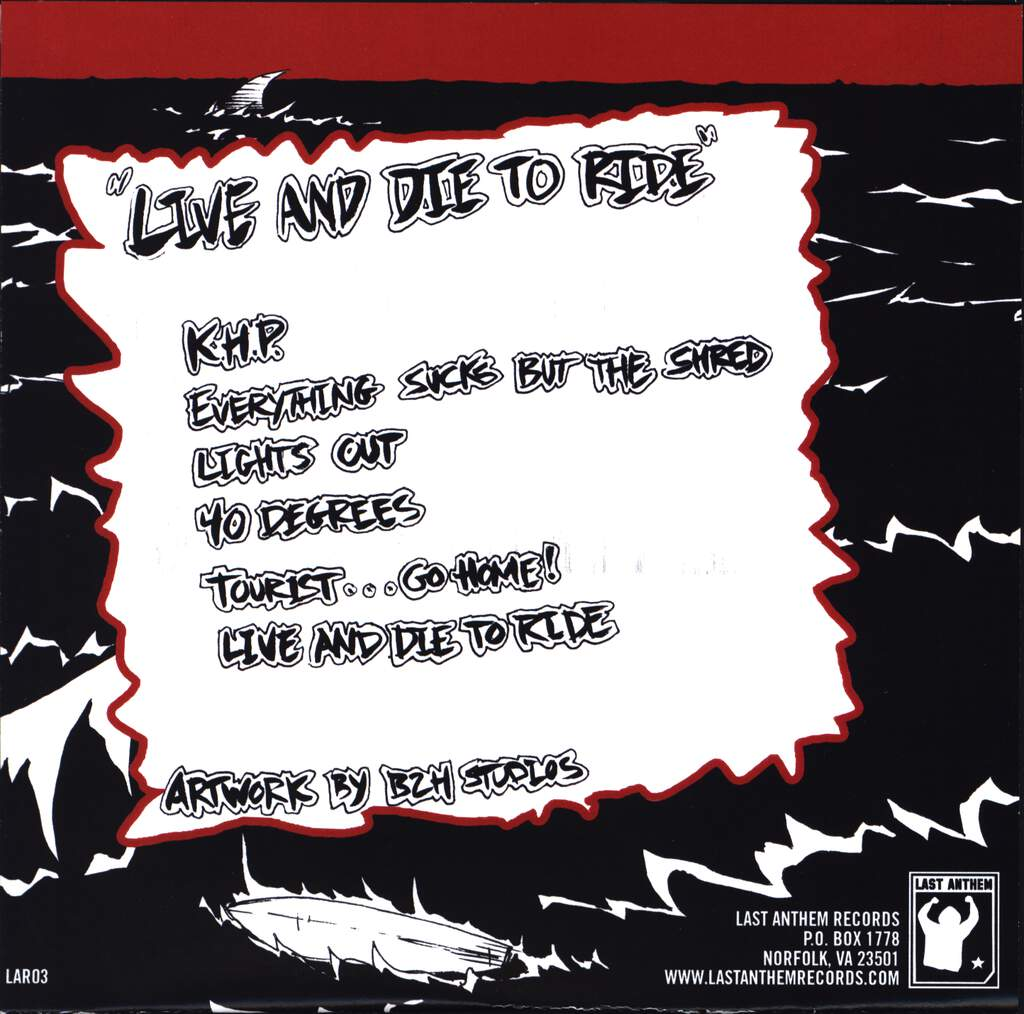 "Cutback: Live and die to ride, 7"" Single (Vinyl)"