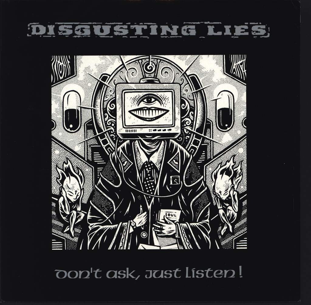 "Disgusting Lies: Don't Ask, Just Listen, 10"" Vinyl EP"
