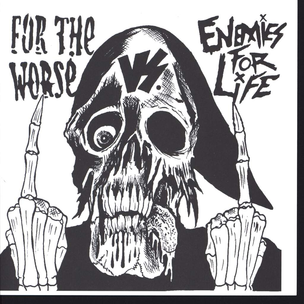 "For The Worse: For The Worse vs. Enemies For Life, 7"" Single (Vinyl)"