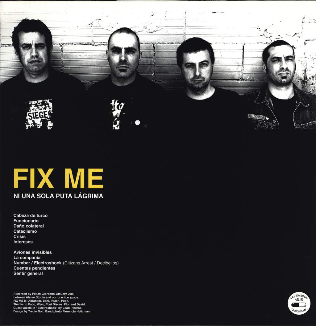 "Fix Me: Ni Una Sola Puta Lágrima, 12"" Maxi Single (Vinyl)"