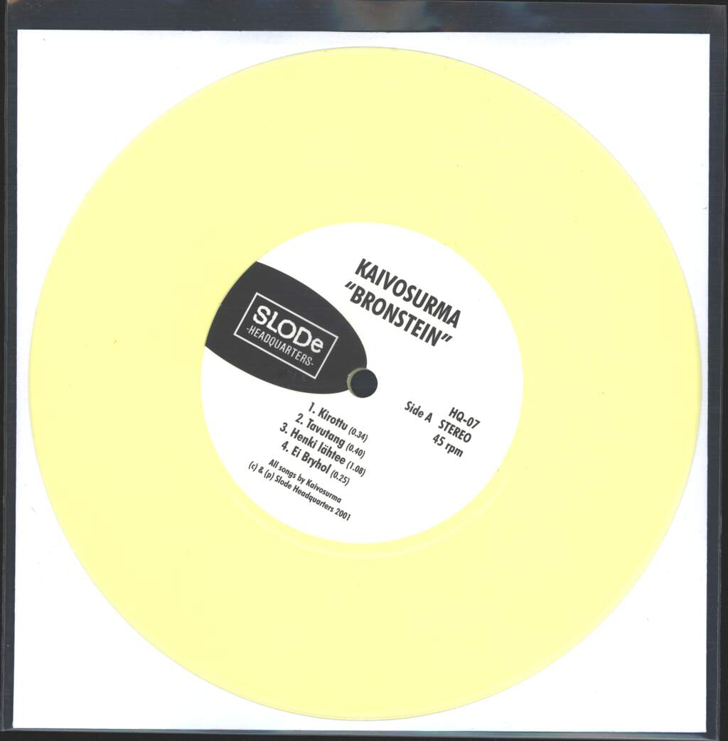 "Kaivosurma: Bronstein, 7"" Single (Vinyl)"