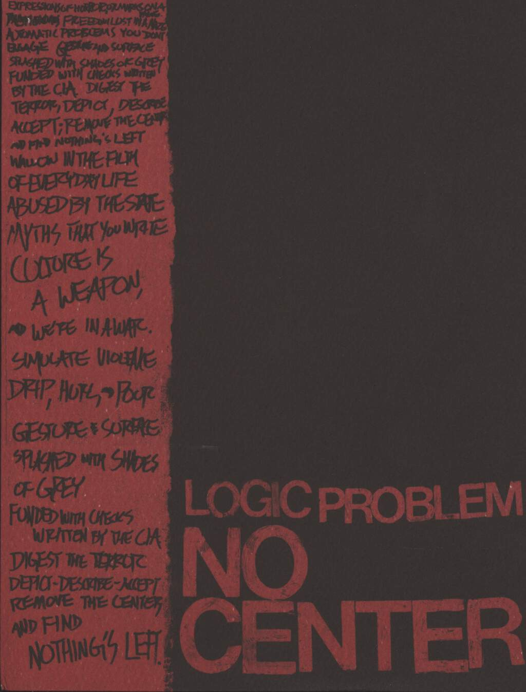 "Logic Problem: No Center, 7"" Single (Vinyl)"