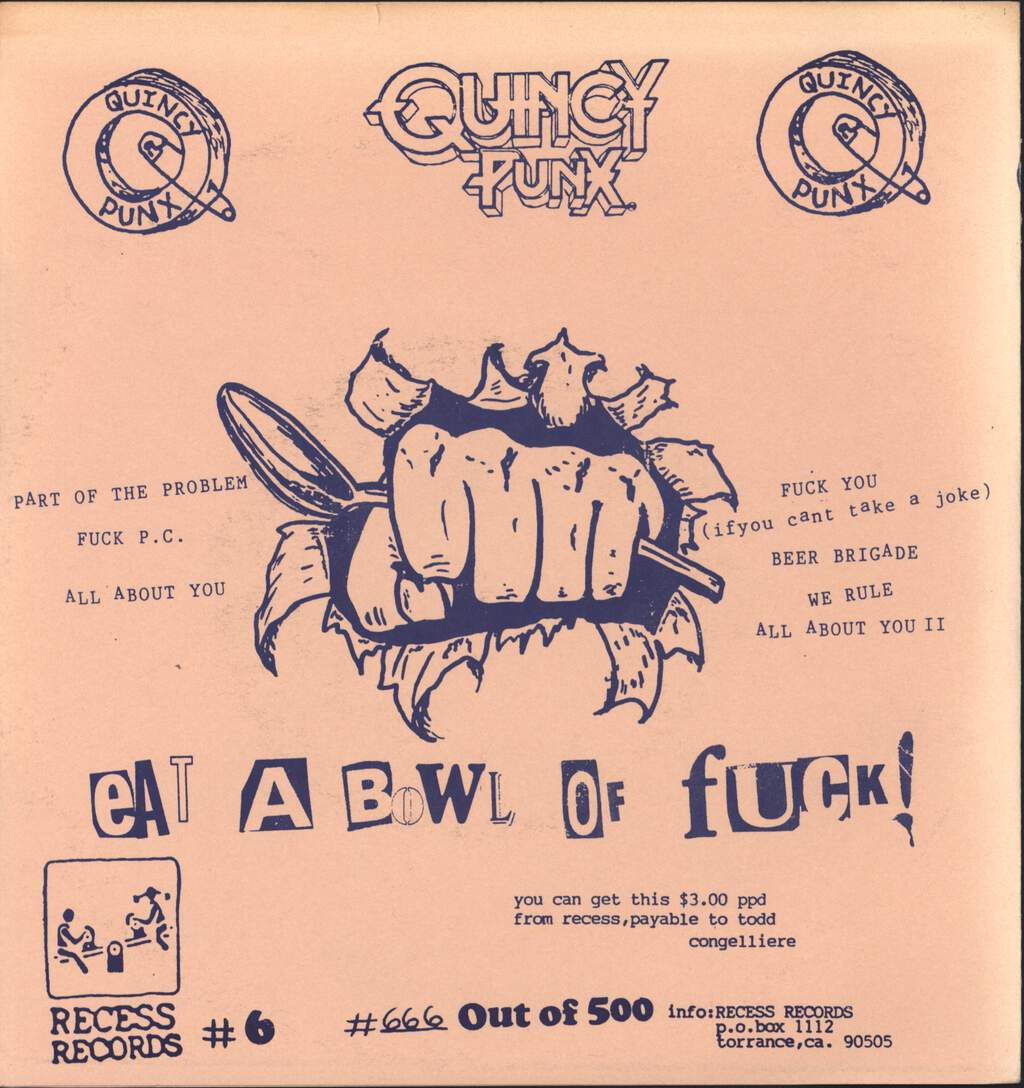 "Quincy Punx: Get the Humans, 7"" Single (Vinyl)"