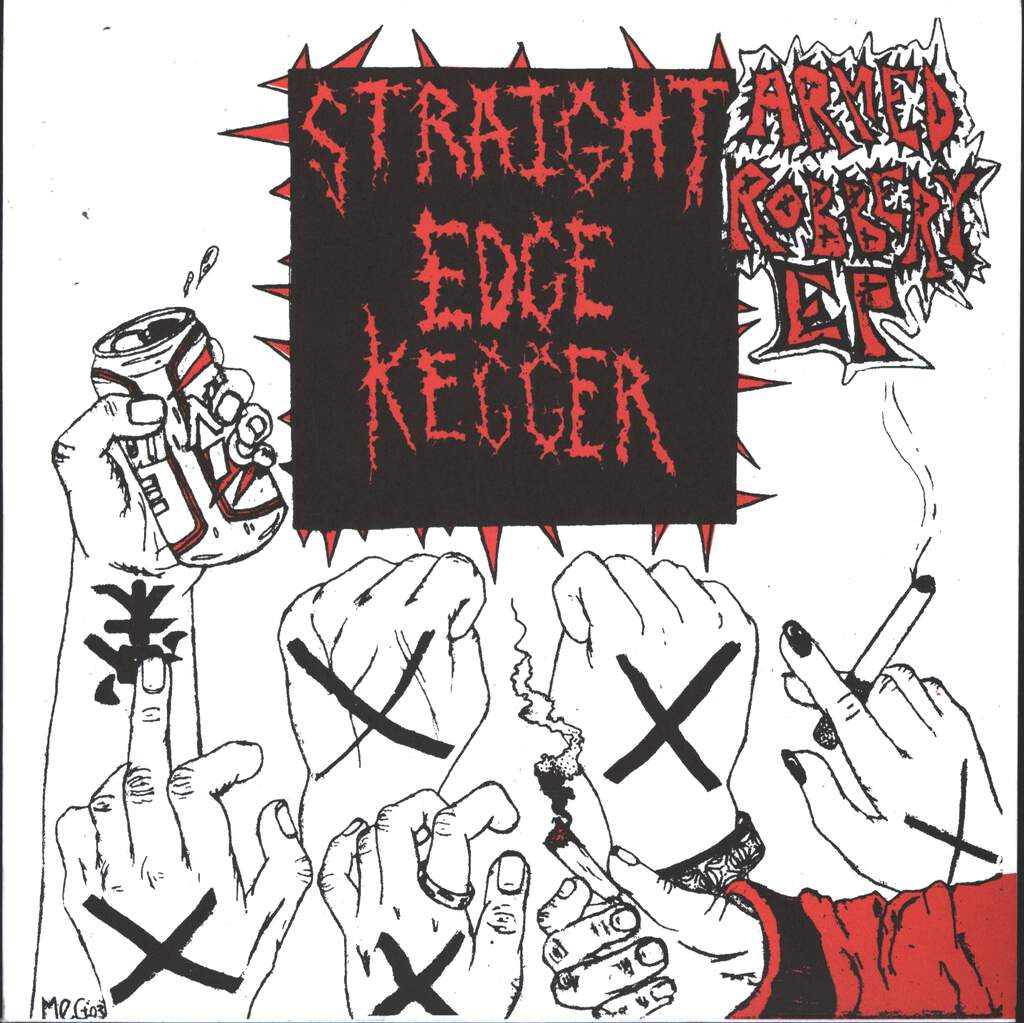 "Straight Edge Kegger: Armed Robbery, 7"" Single (Vinyl)"