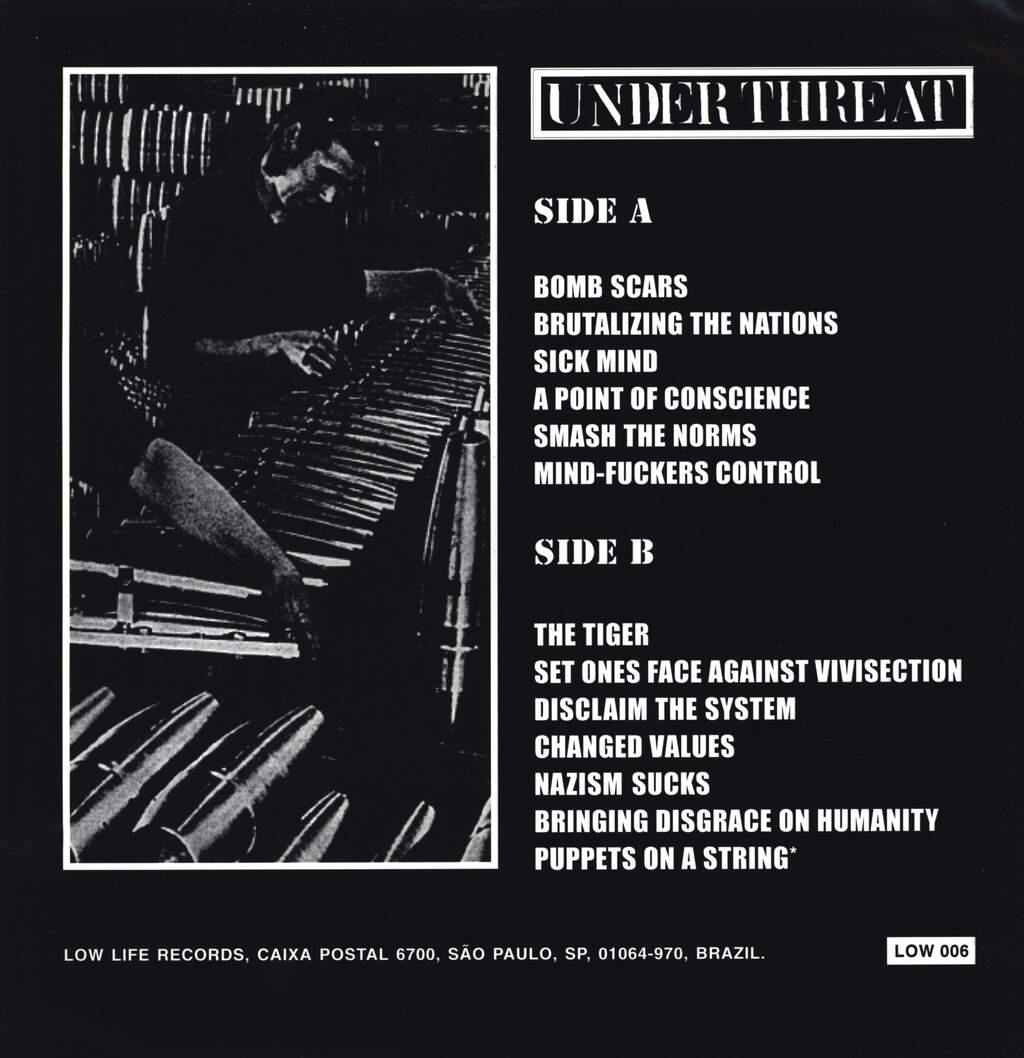 Under Threat: Bomb Scars, LP (Vinyl)