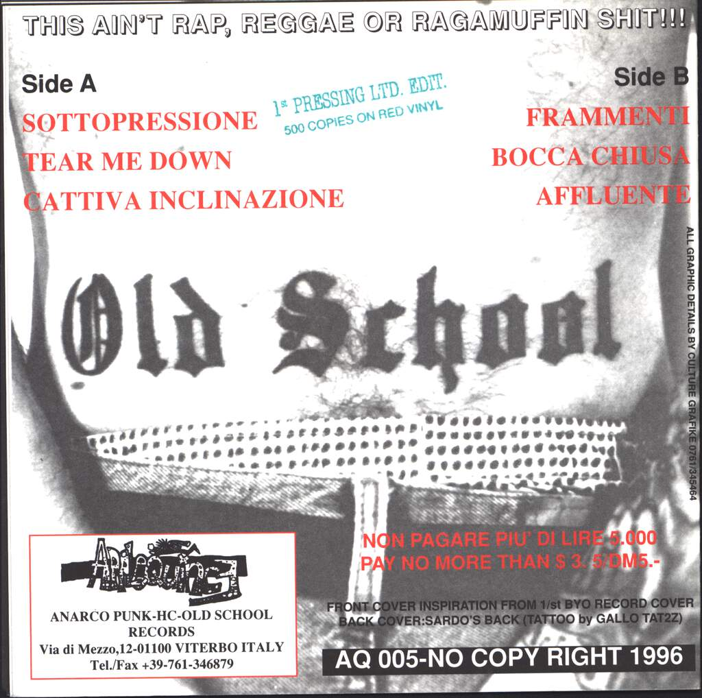 "Various: Hard To Believe An Italian Old School Compilation, 7"" Single (Vinyl)"
