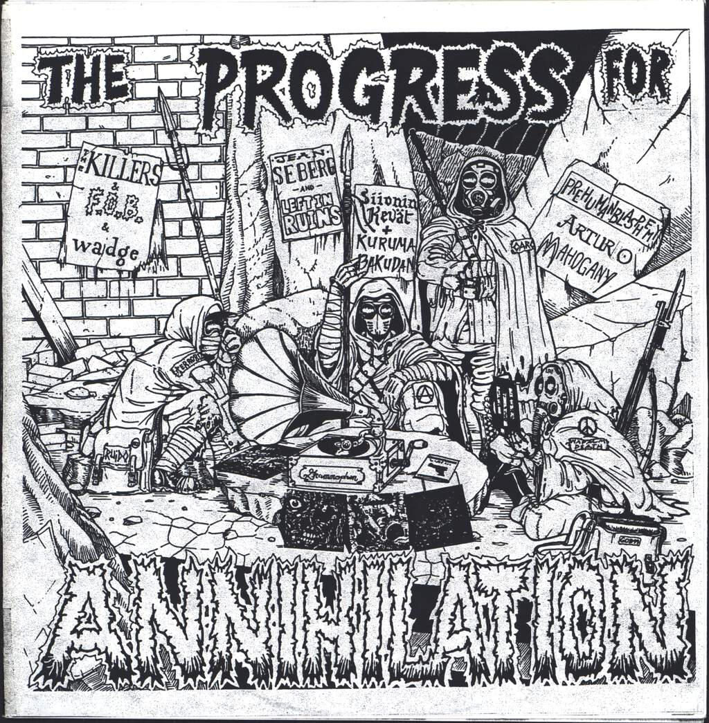 "Various: The Progress For Annihilation, 7"" Single (Vinyl)"