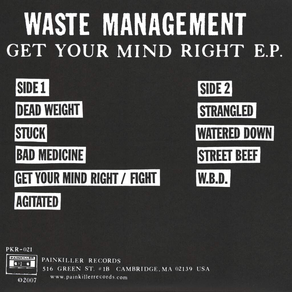 "Waste Management: Get Your Mind Right, 7"" Single (Vinyl)"