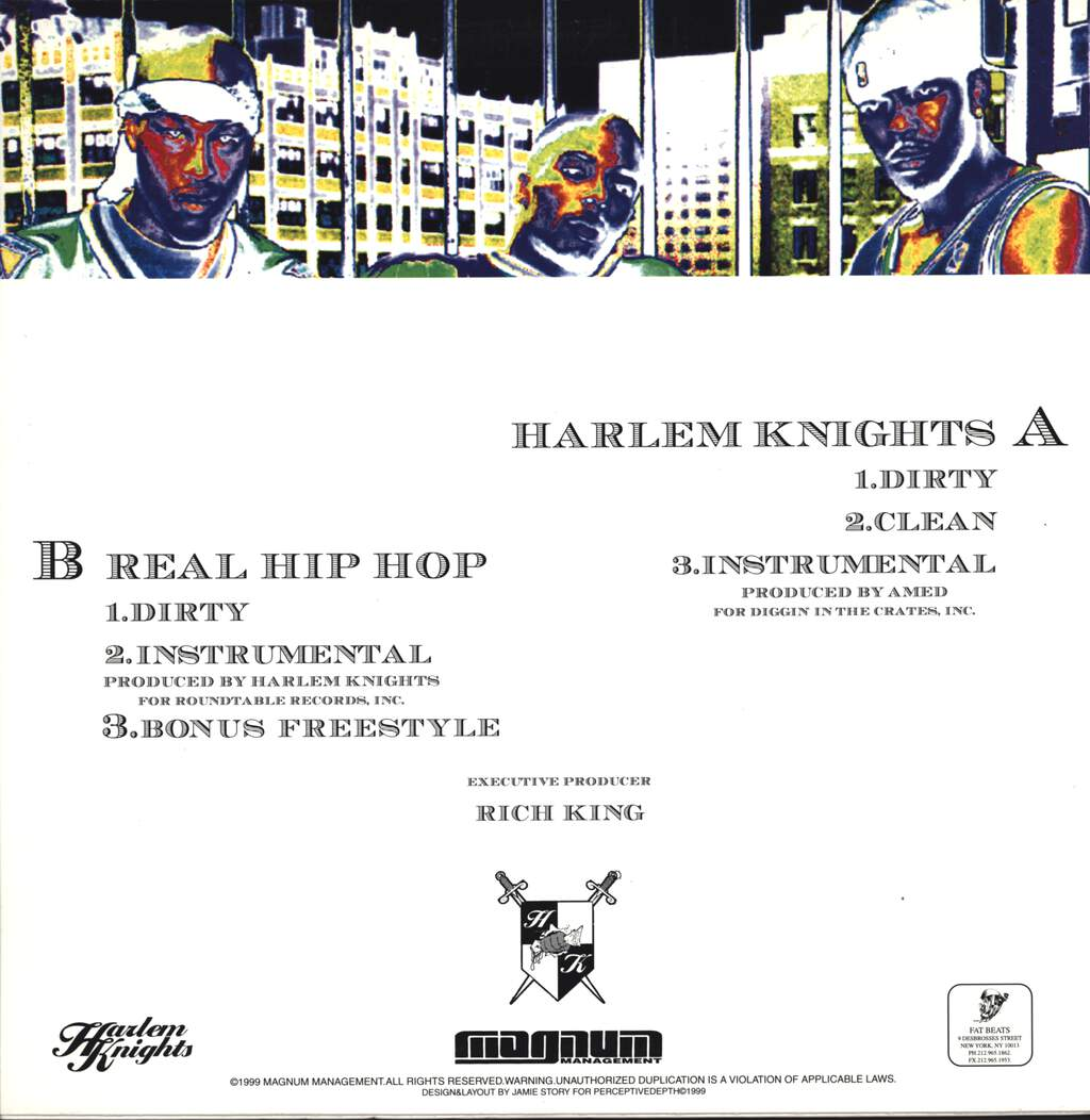 "Harlem Knights: Real Hip Hop, 12"" Maxi Single (Vinyl)"