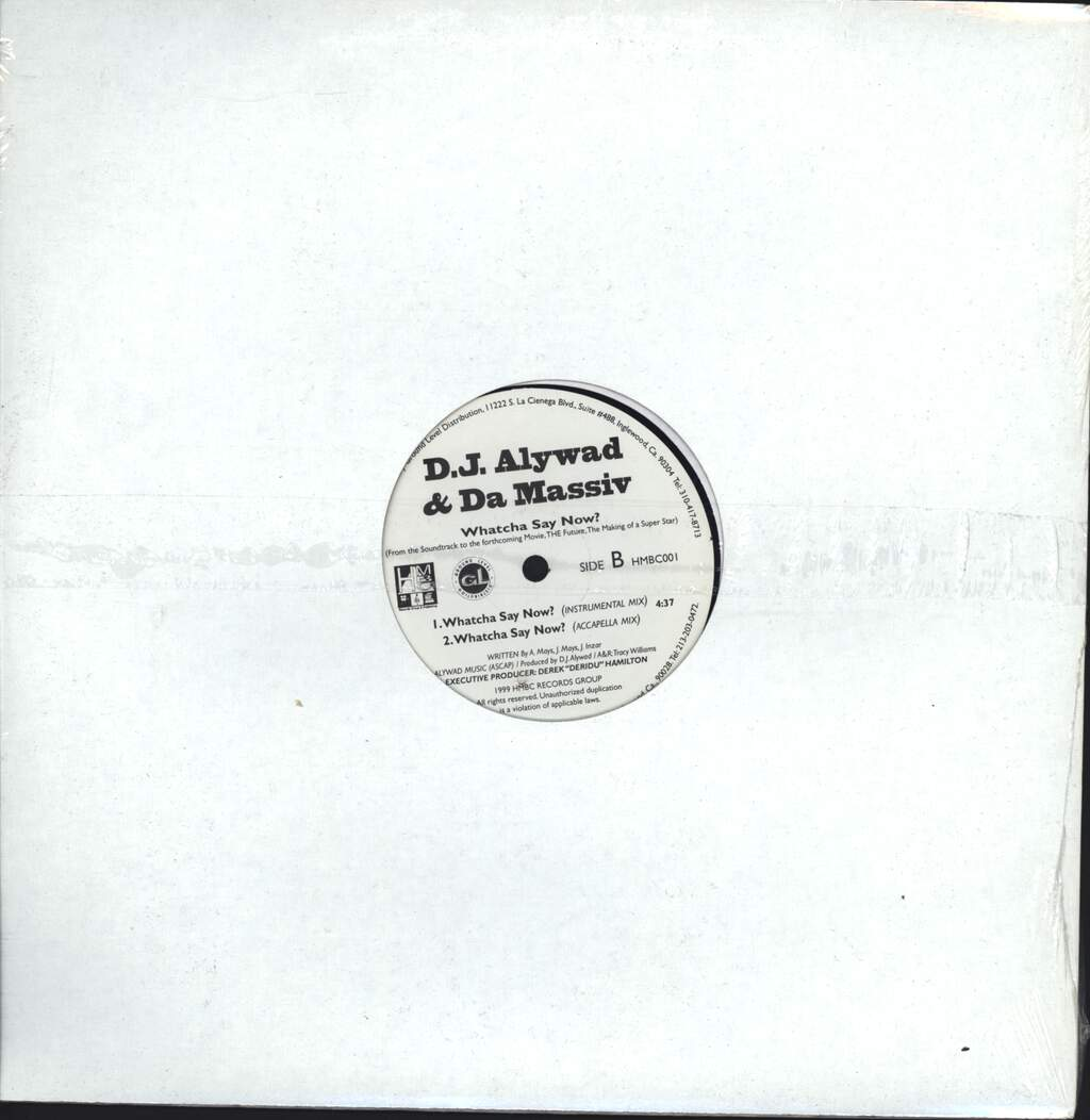 "DJ Alywad & Da Massiv: Whatcha Say Now?, 12"" Maxi Single (Vinyl)"