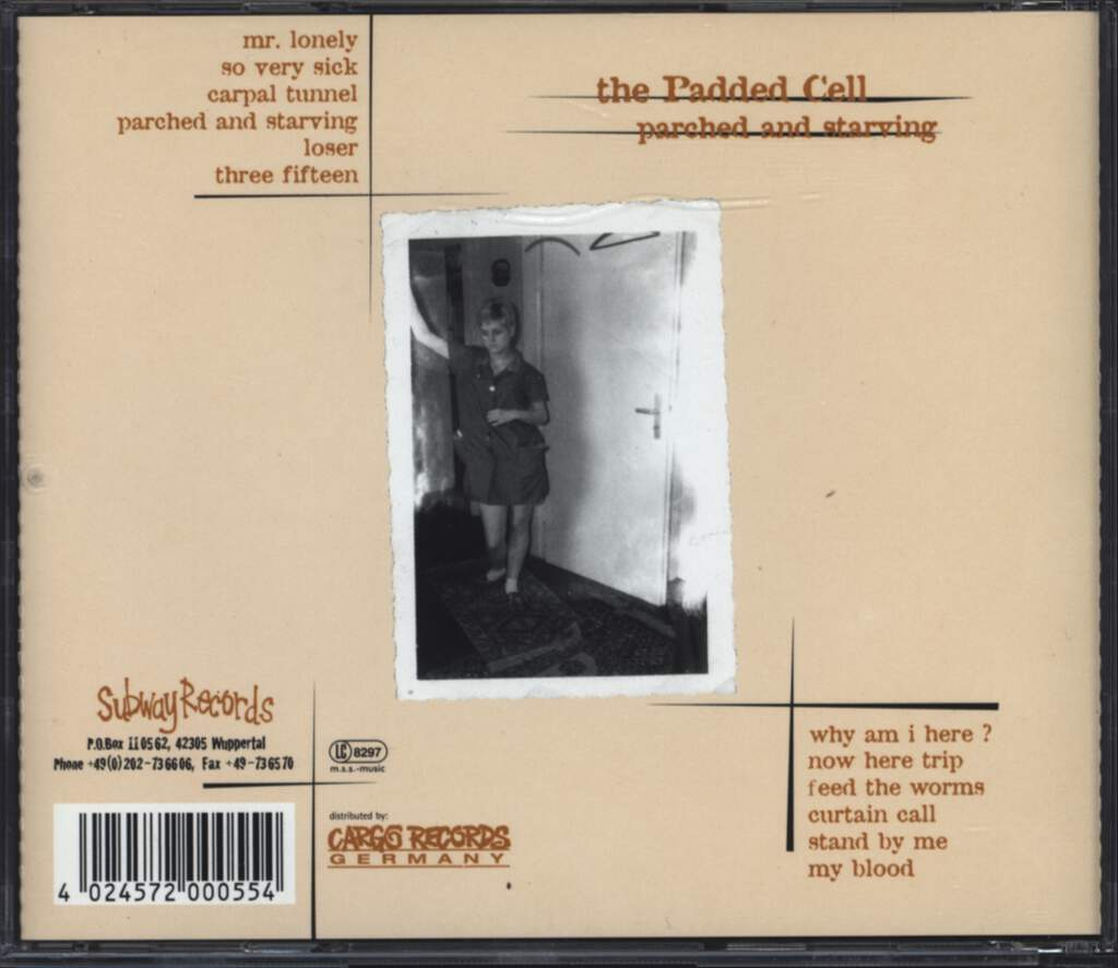 The Padded Cell: Parched And Starving, CD