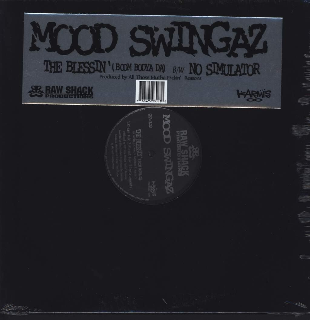 "Moodswingaz: The Blessin' (Boom Bodya Da) / No Simulator, 12"" Maxi Single (Vinyl)"