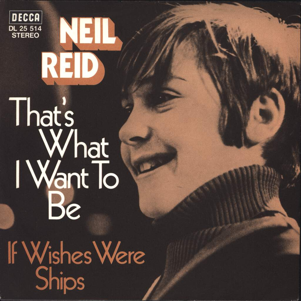 "Neil Reid: That's What I Want To Be, 7"" Single (Vinyl)"