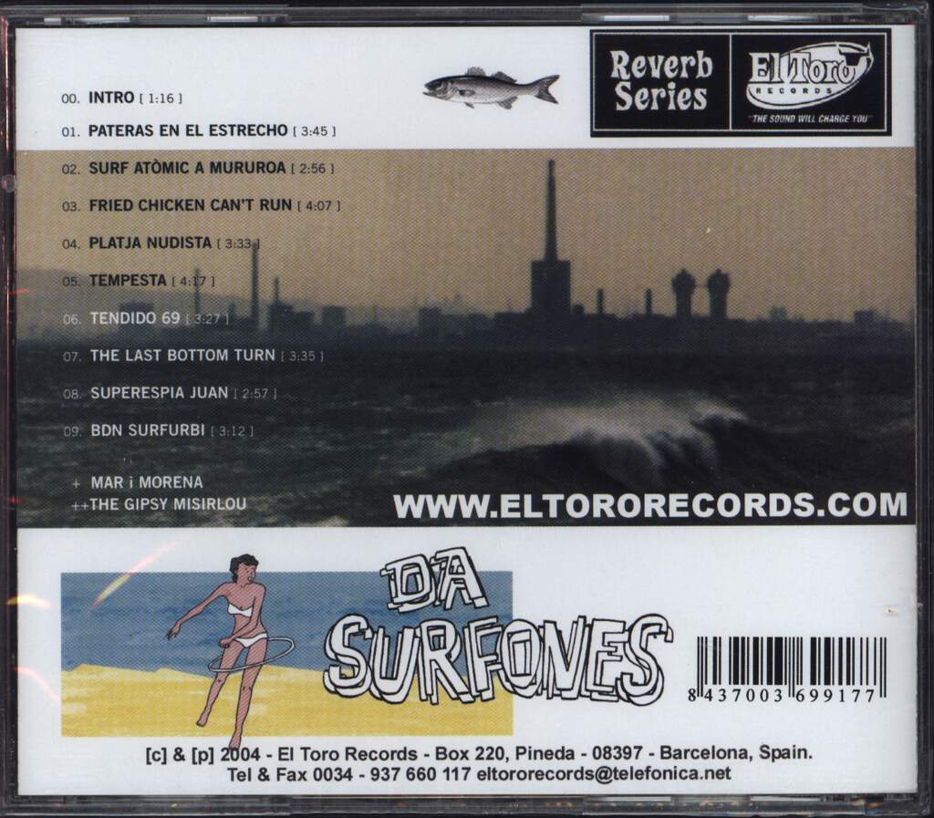 Surfones: The Girl Who Couldn't Hula, CD