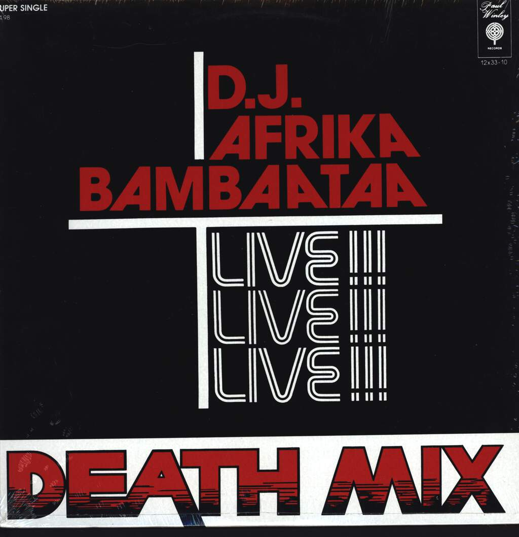 "Afrika Bambaataa: Death Mix, 12"" Maxi Single (Vinyl)"