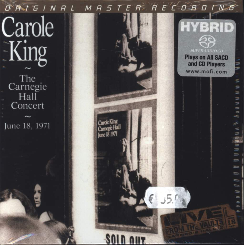 Carole King: The Carnegie Hall Concert, CD