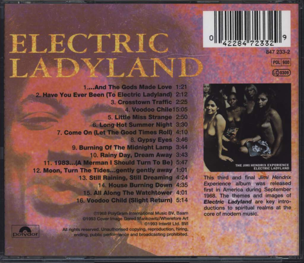 The Jimi Hendrix Experience: Electric Ladyland, CD