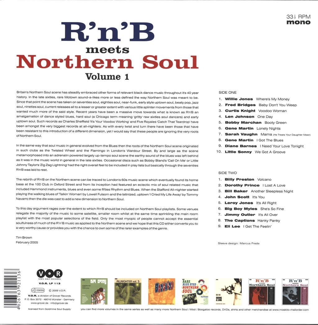 Various: R'n'B Meets Northern Soul Volume 1, LP (Vinyl)