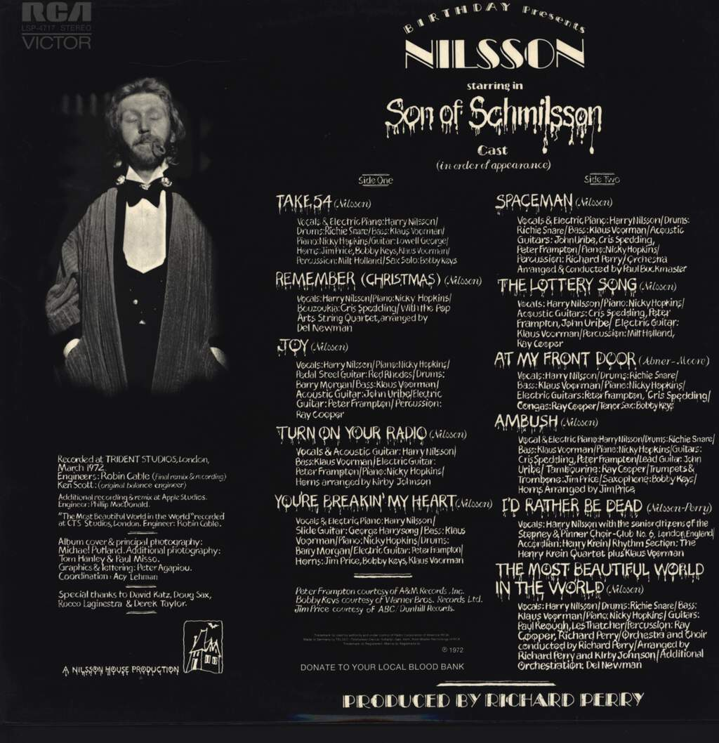 Harry Nilsson: Son Of Schmilsson, LP (Vinyl)