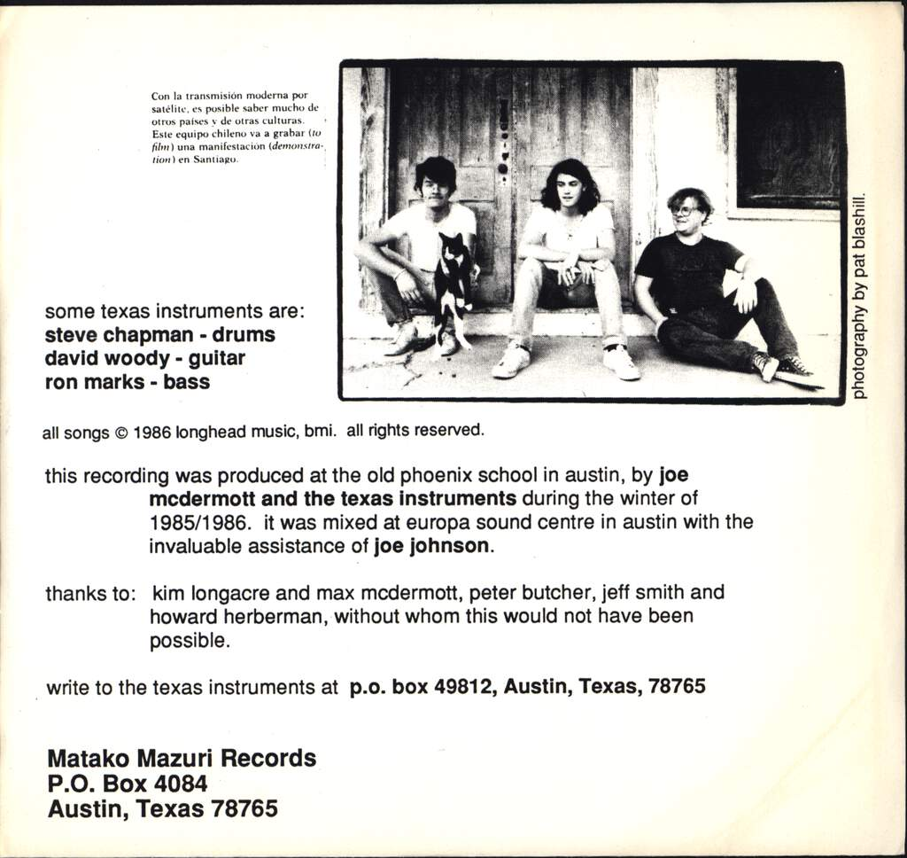"The Texas Instruments: The Thing In Apartment B / Good Time In Rhythm, 7"" Single (Vinyl)"