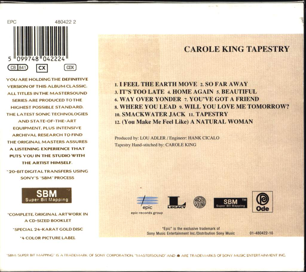 Carole King: Tapestry, CD