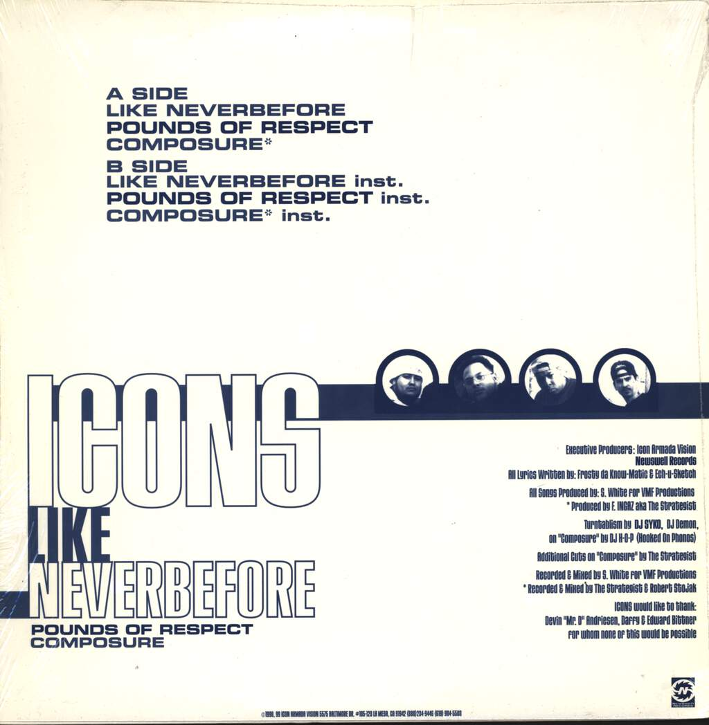 "Icons: Like Never Before, 12"" Maxi Single (Vinyl)"