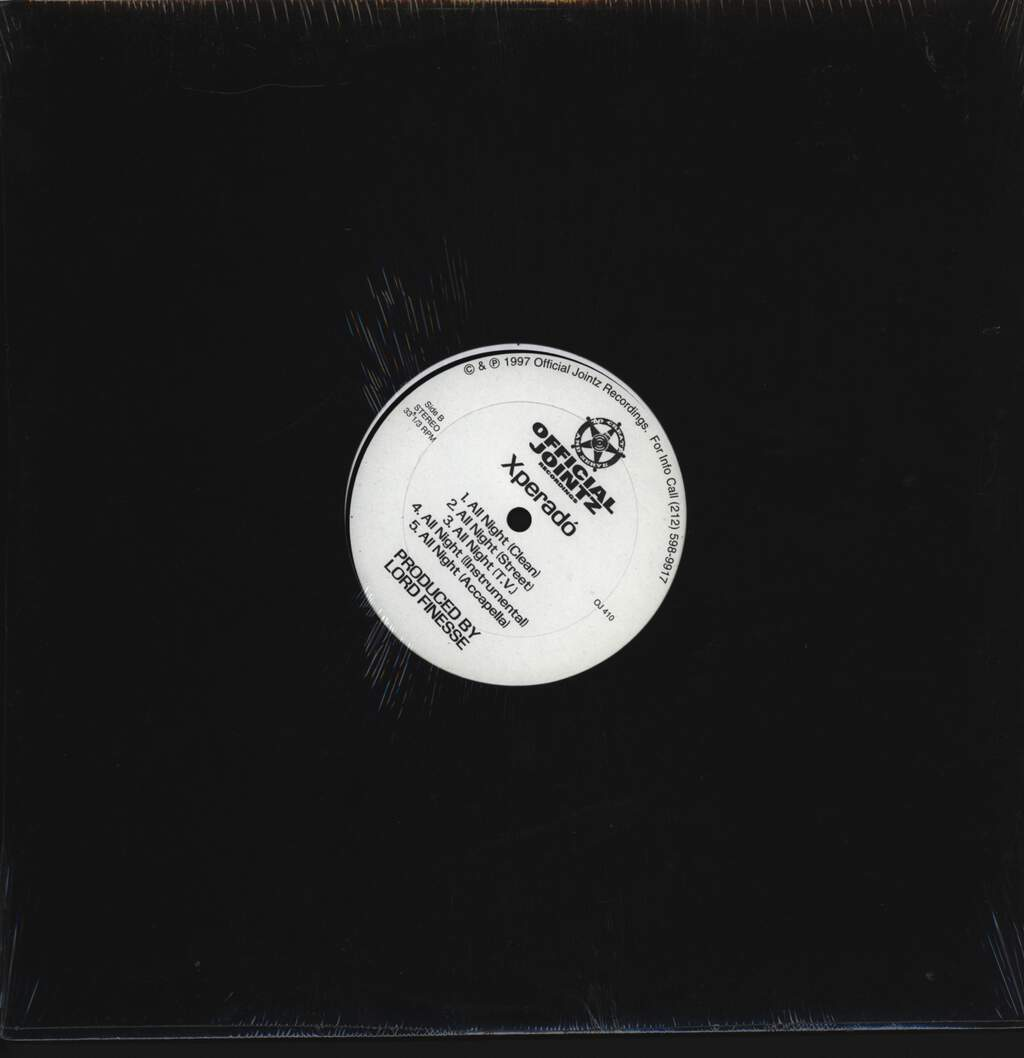 "Xperado: Paradox / All Night, 12"" Maxi Single (Vinyl)"