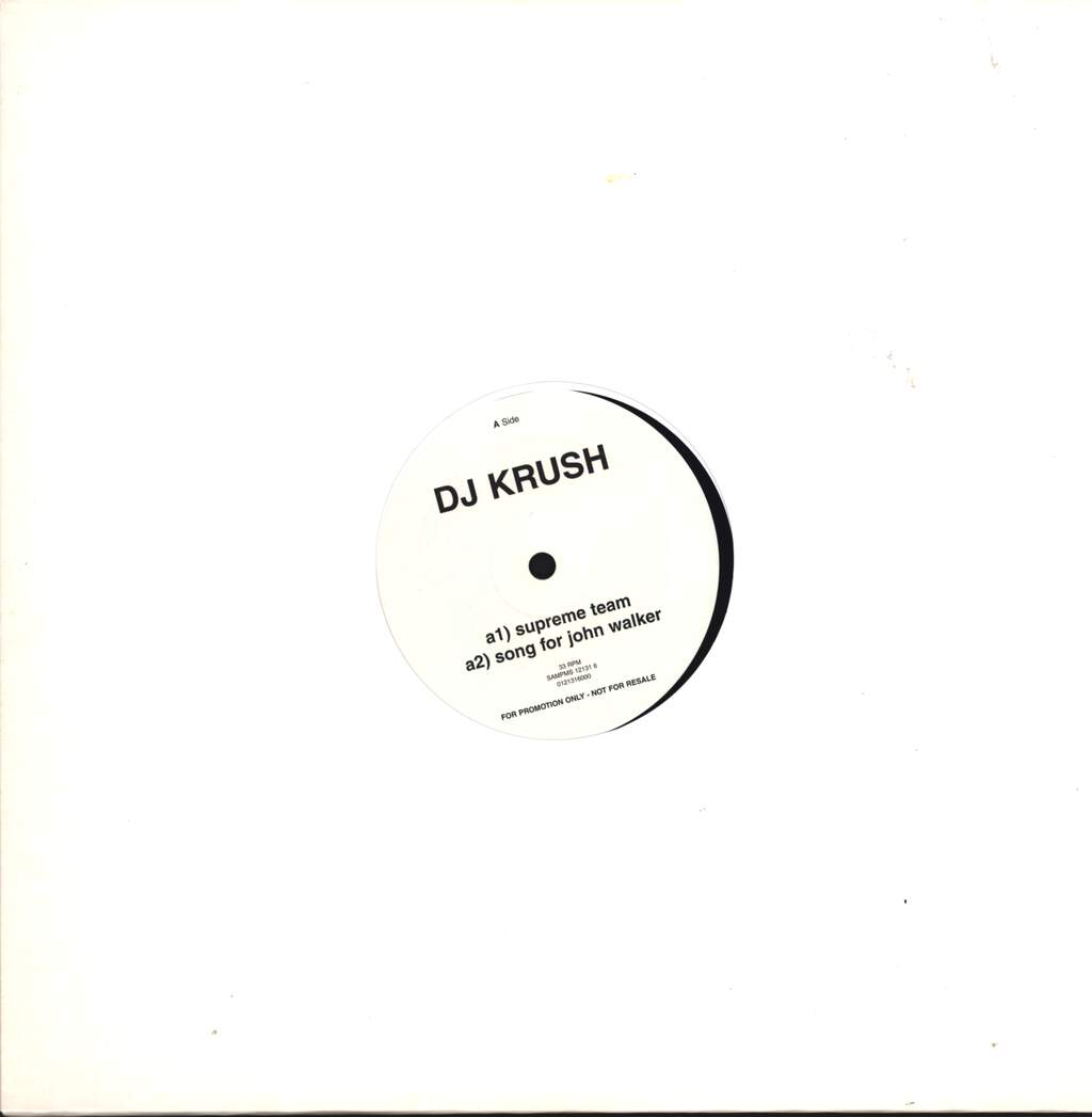 "DJ Krush: Supreme Team, 12"" Maxi Single (Vinyl)"