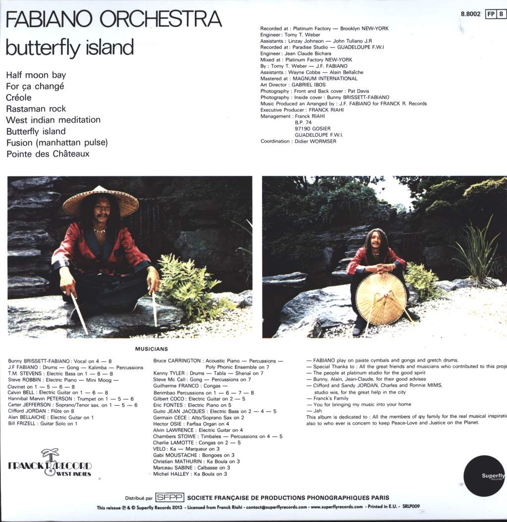 Fabiano Orchestra: Butterfly Island, LP (Vinyl)