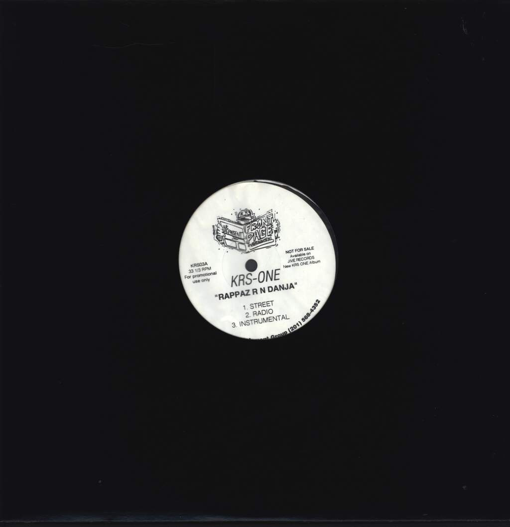 "Krs-One: Rappaz R N Danja, 12"" Maxi Single (Vinyl)"
