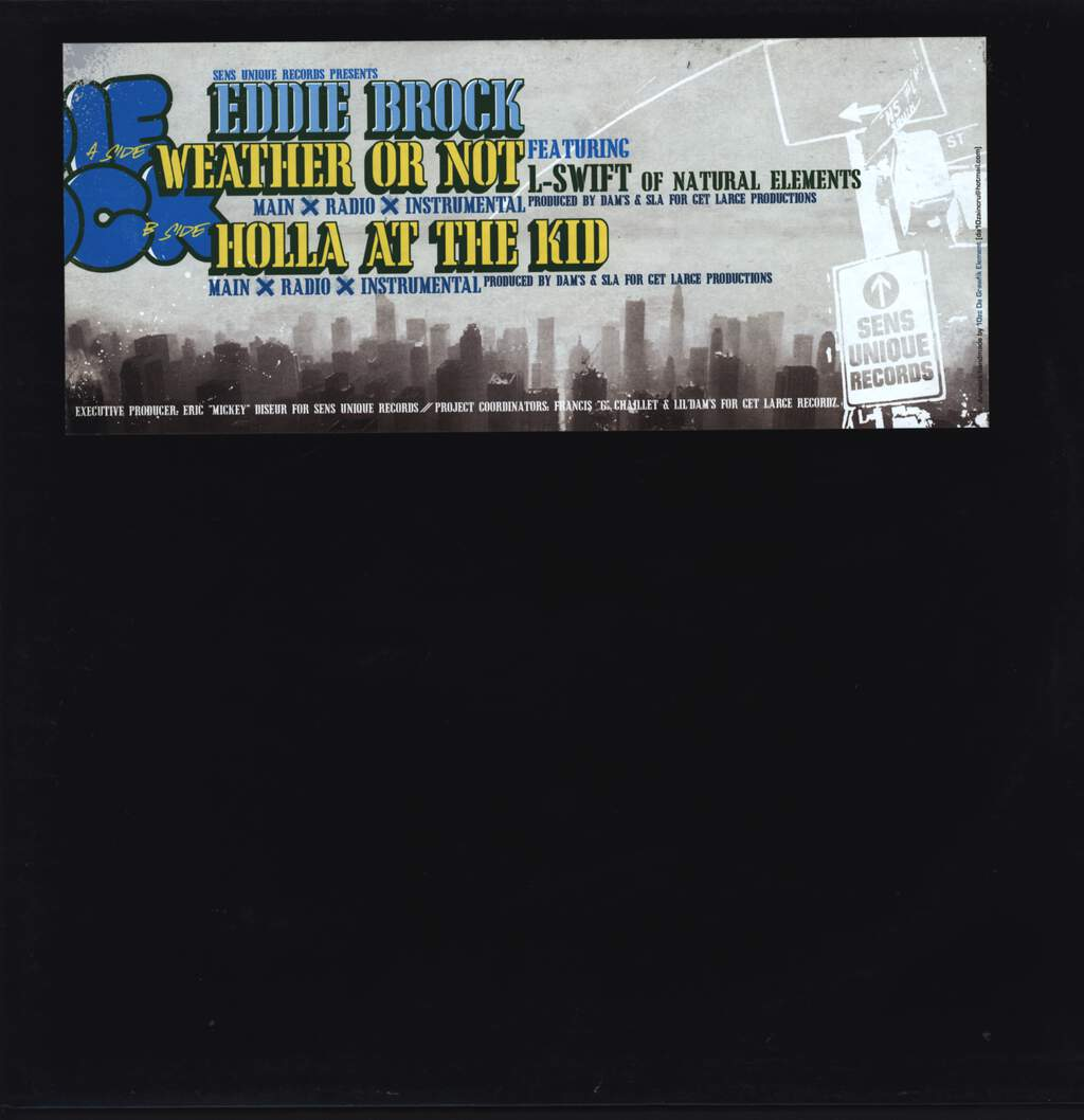 "Eddie Brock: Weather Or Not / Holla At The Kid, 12"" Maxi Single (Vinyl)"