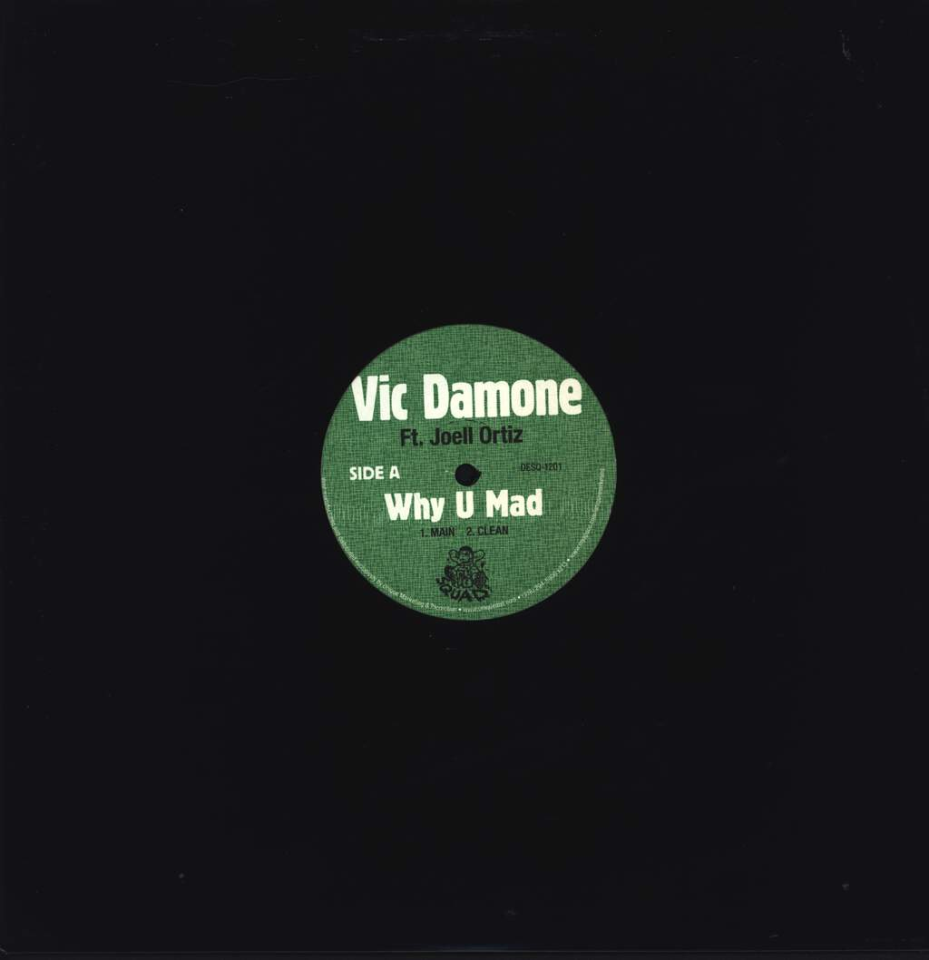"Vic Damone: Why U Mad, 12"" Maxi Single (Vinyl)"