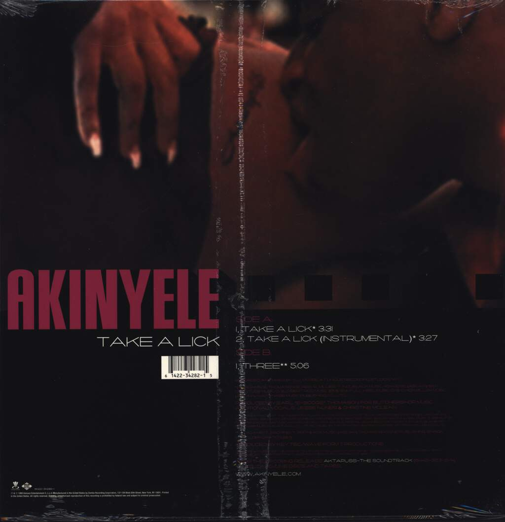 "Akinyele: Take A Lick, 12"" Maxi Single (Vinyl)"