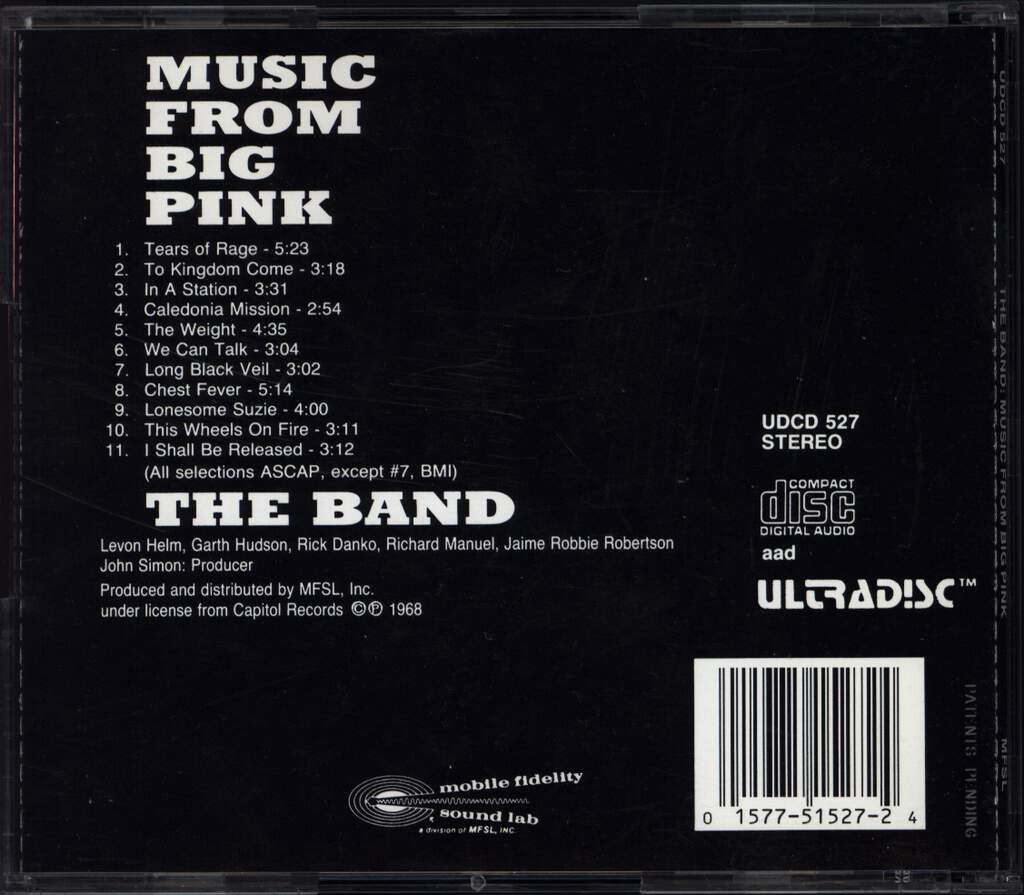 The Band: Music From Big Pink, CD
