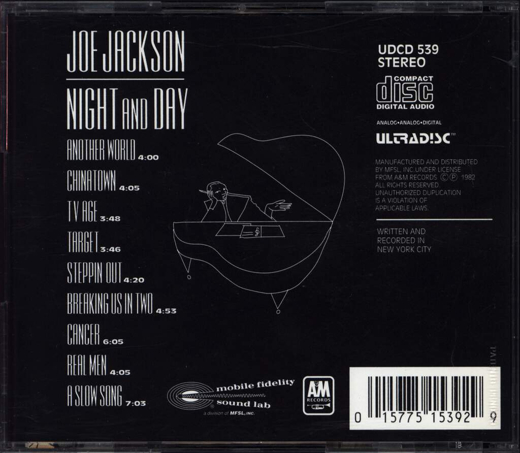 Joe Jackson: Night And Day, CD