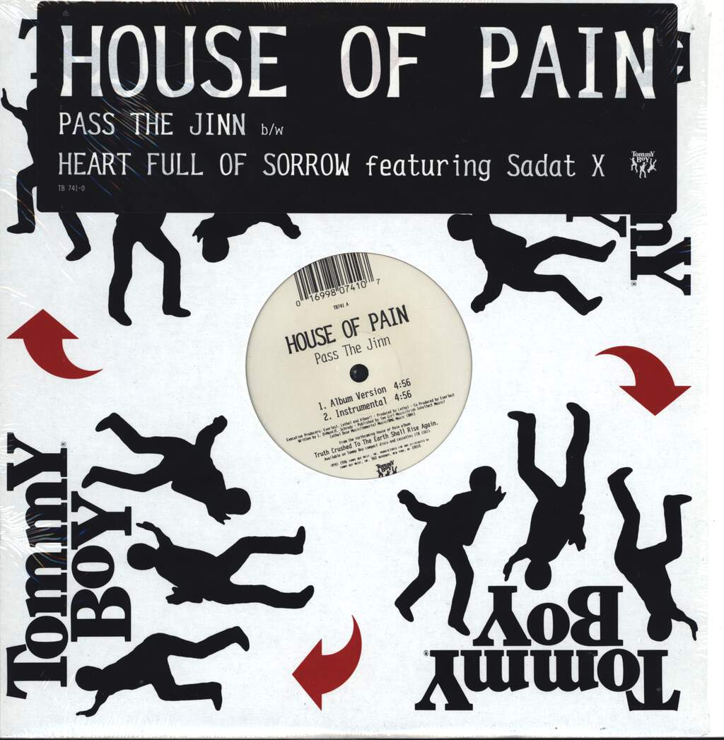 "House Of Pain: Pass The Jinn / Heart Full Of Sorrow, 12"" Maxi Single (Vinyl)"