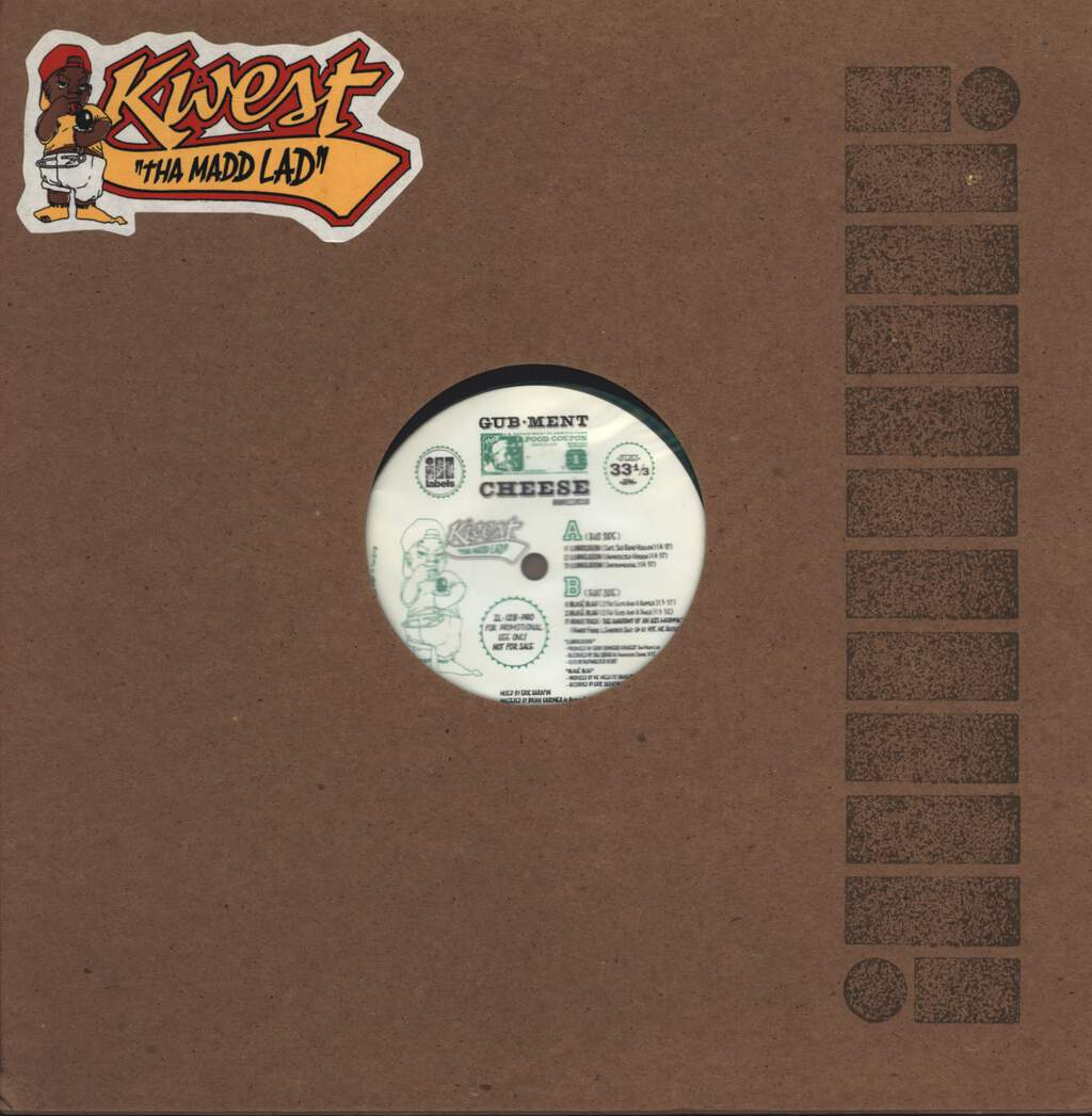 "Kwest Tha Madd Lad: Lubrication / Blase Blah, 12"" Maxi Single (Vinyl)"