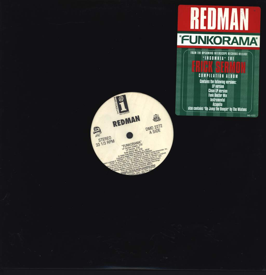 "Redman: Funkorama / Up Jump The Boogie, 12"" Maxi Single (Vinyl)"