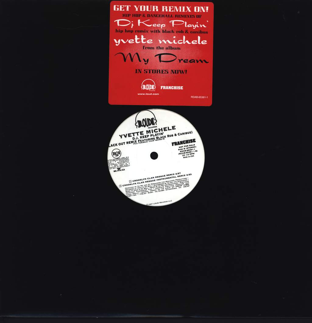 "Yvette Michele: D.J. Keep Playin' (Blackout Remix Featuring Black Rob & Canibus), 12"" Maxi Single (Vinyl)"