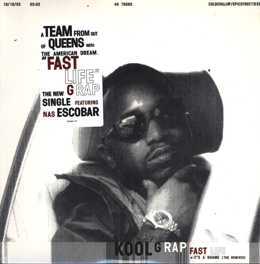 "Kool G Rap: Fast Life / It's A Shame (Remixes), 12"" Maxi Single (Vinyl)"