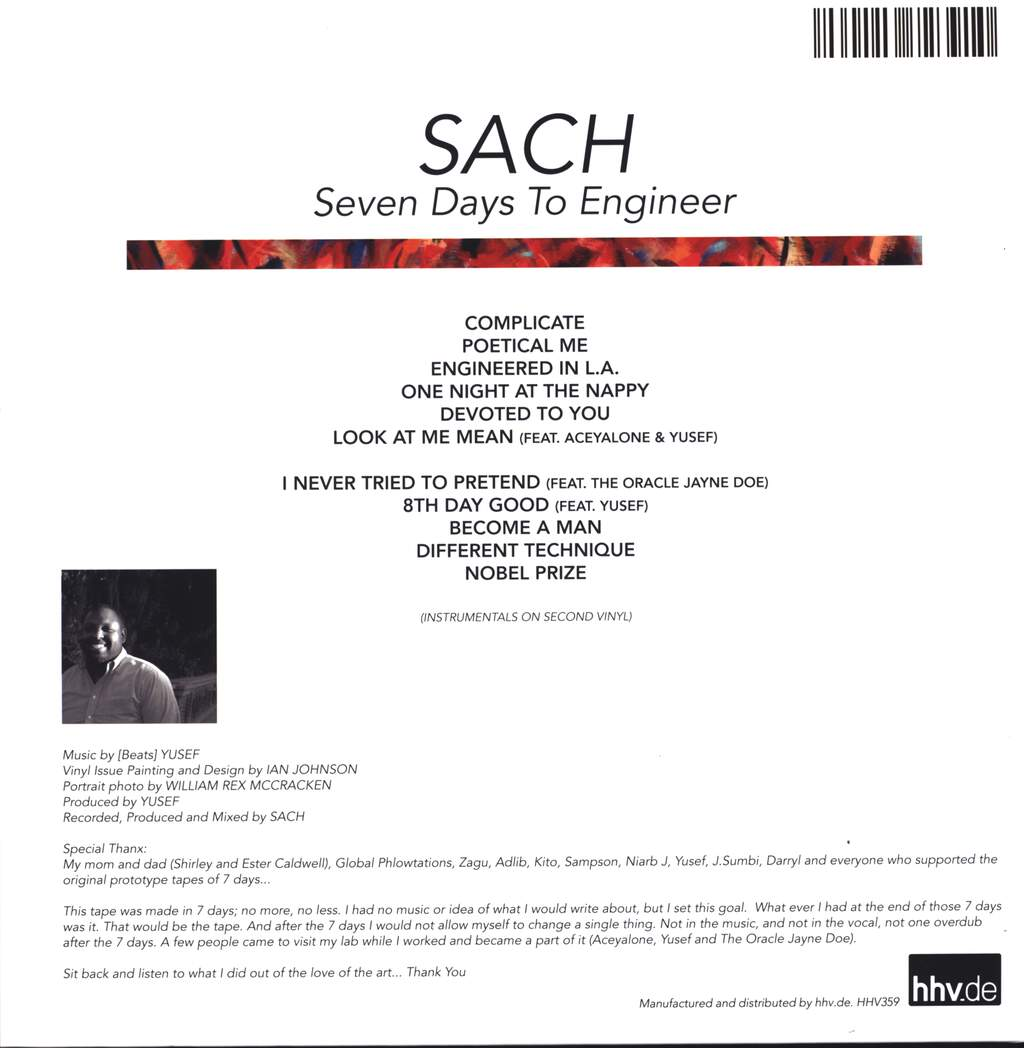 Sach: Seven Days To Engineer, LP (Vinyl)