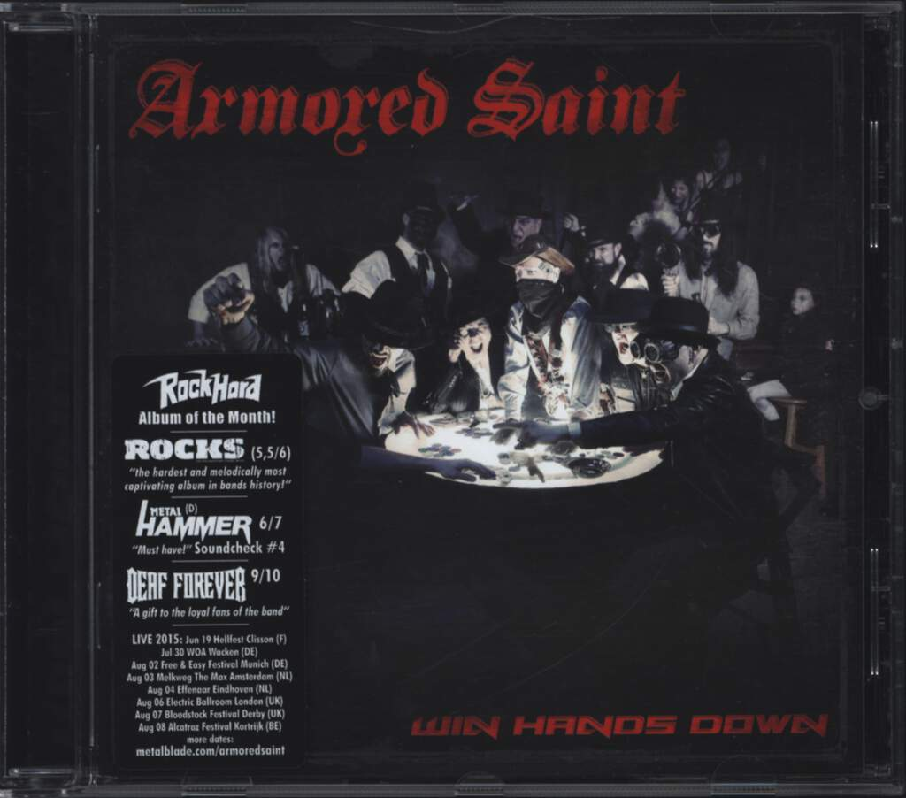 Armored Saint: Win Hands Down, CD