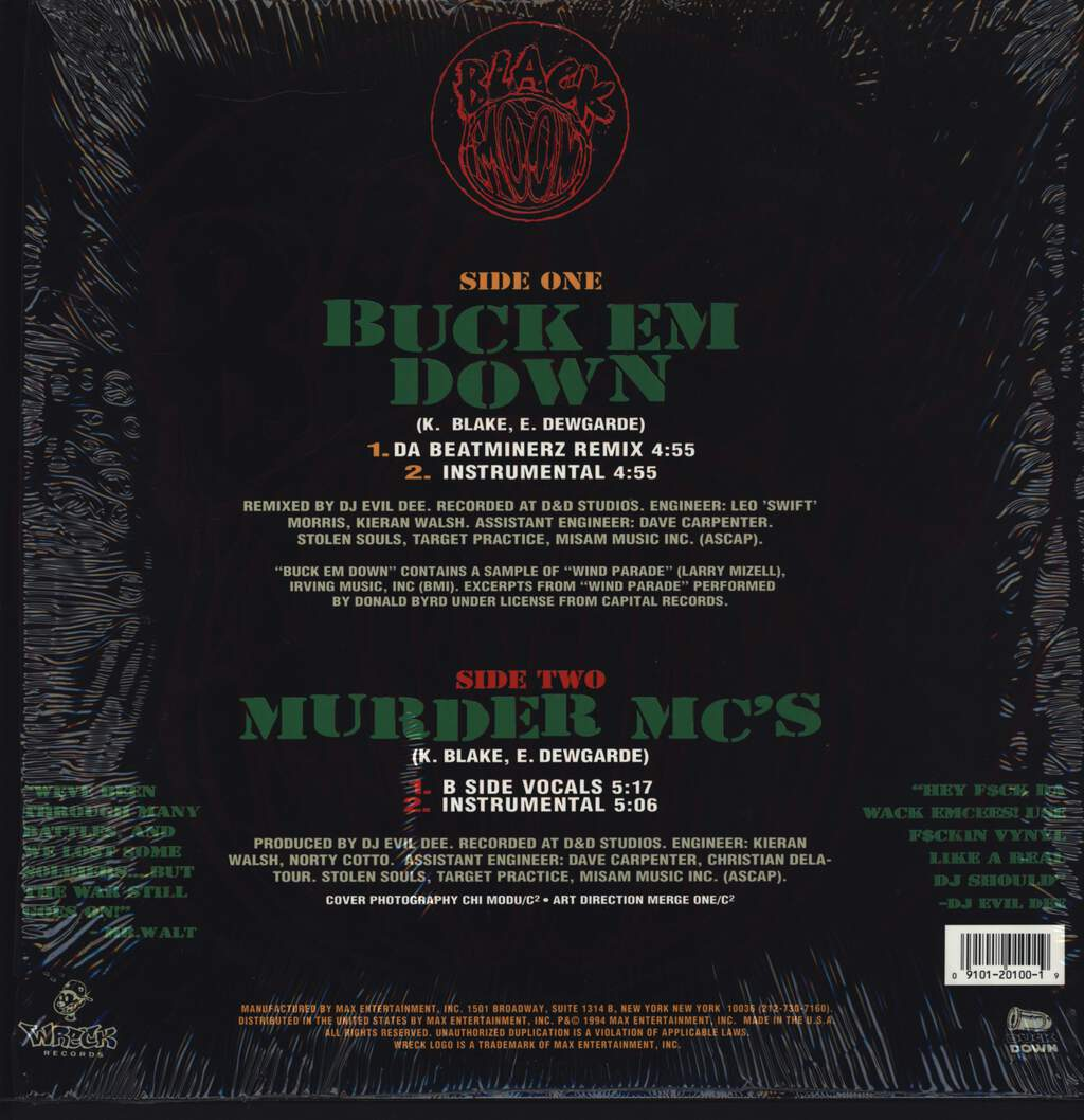 "Black Moon: Buck Em Down, 12"" Maxi Single (Vinyl)"