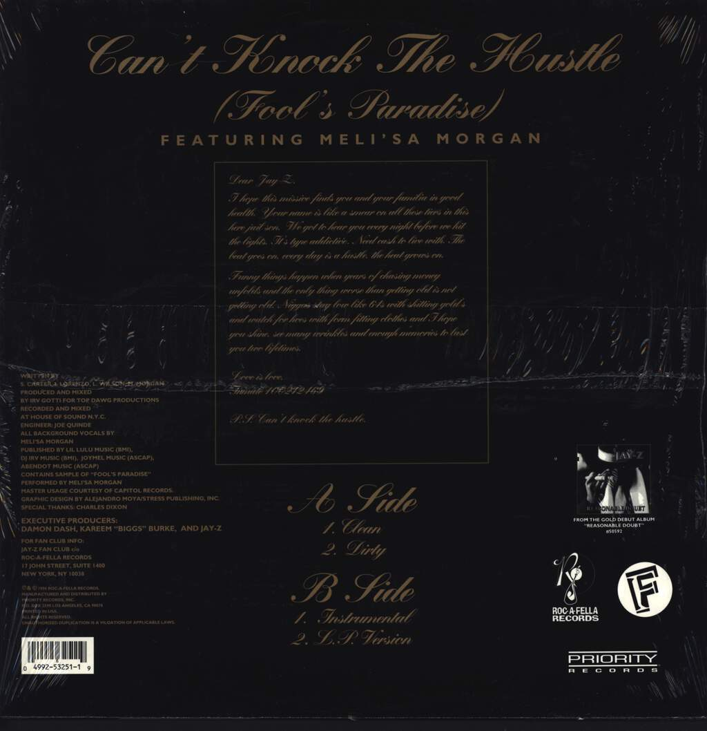 "Jay-Z: Can't Knock The Hustle (Fool's Paradise Remix), 12"" Maxi Single (Vinyl)"