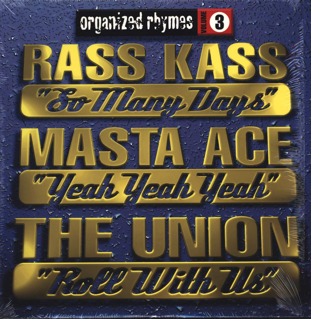 "Ras Kass: Organized Rhymes Volume 3, 12"" Maxi Single (Vinyl)"