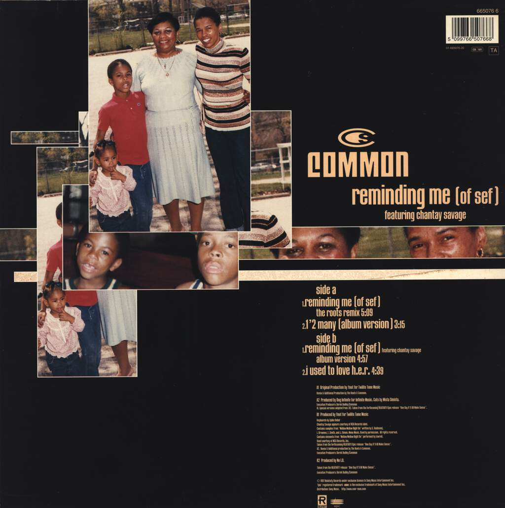 "Common: Reminding Me (Of Sef), 12"" Maxi Single (Vinyl)"
