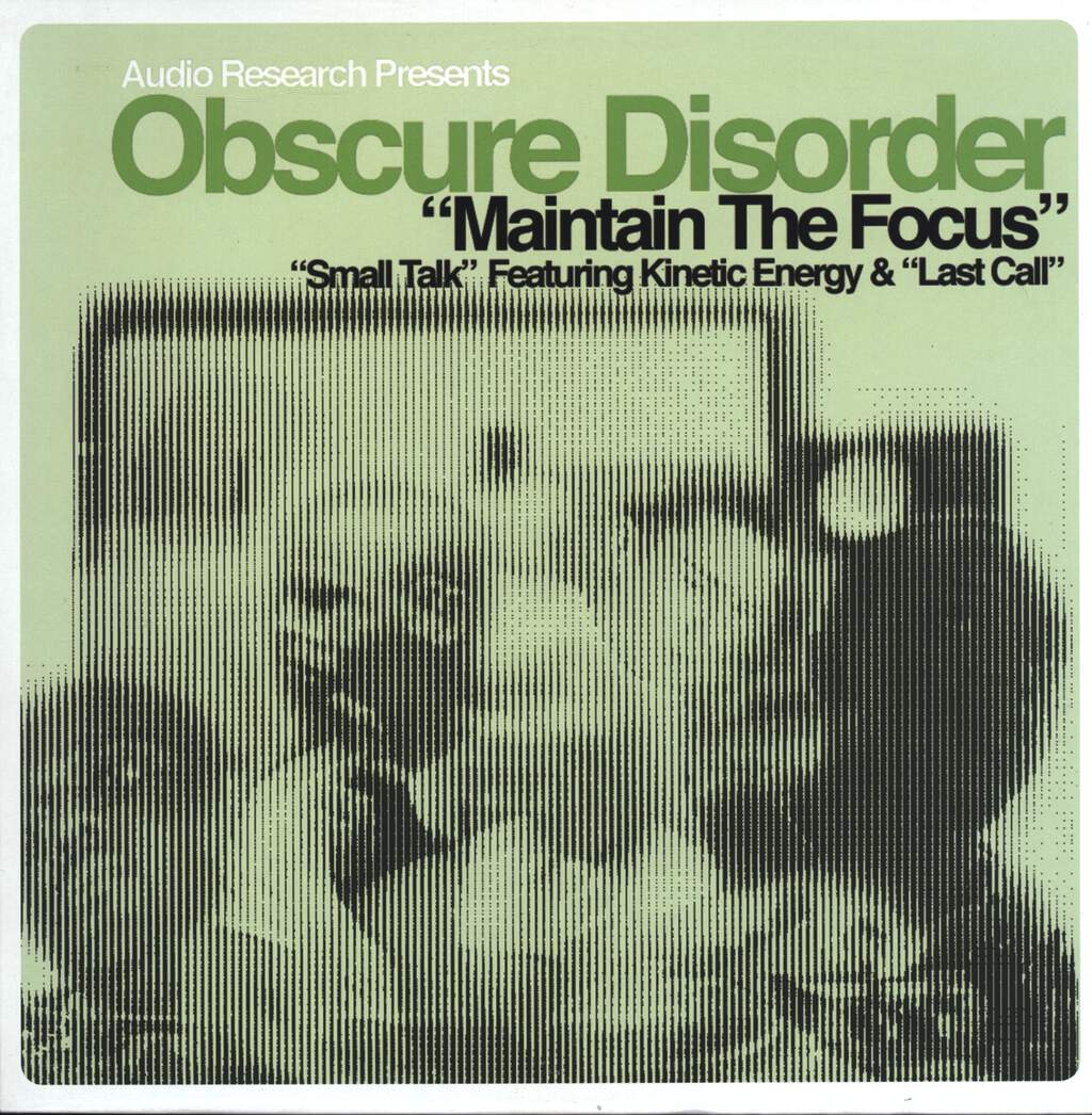 "Obscure Disorder: Maintain The Focus, 12"" Maxi Single (Vinyl)"