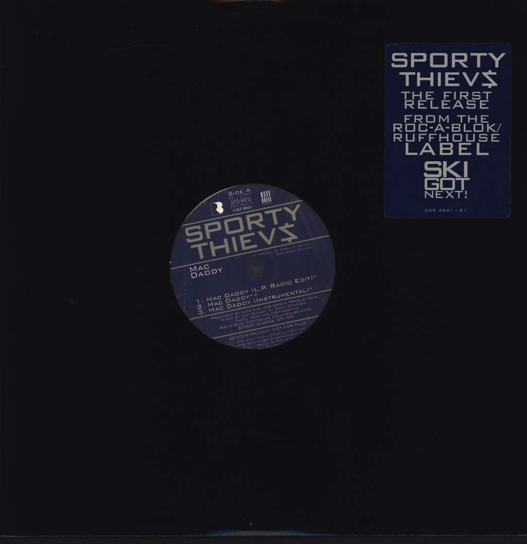 "Sporty Thievz: Mac Daddy / Street Cinema, 12"" Maxi Single (Vinyl)"