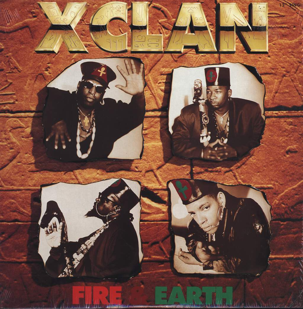 "X Clan: Fire & Earth, 12"" Maxi Single (Vinyl)"